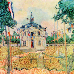 100% Hand Painted Oil on Canvas - 14 July in Auvers by Van Gogh