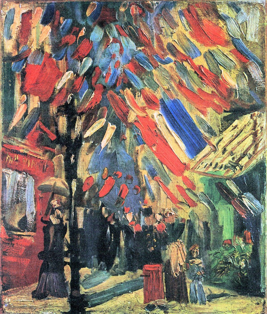 100% Hand Painted Oil on Canvas - 14 July in Paris by Van Gogh