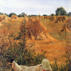100% Hand Painted Oil on Canvas - 94 degrees in the shade by Alma-Tadema