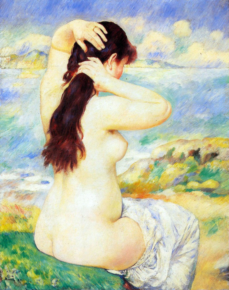 100% Hand Painted Oil on Canvas - A Bather by Renoir