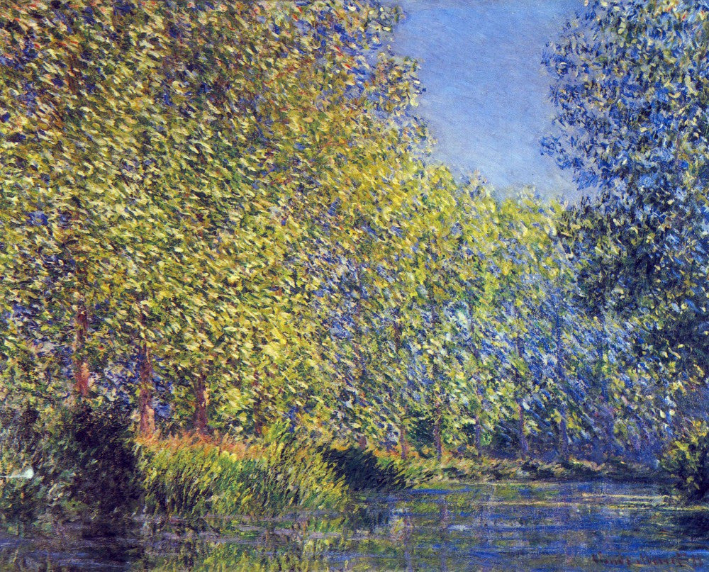100% Hand Painted Oil on Canvas - A Bend in the Epte Giverny by Monet