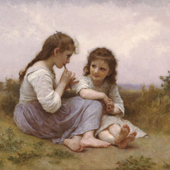 100% Hand Painted Oil on Canvas - A Childhood Idyll 1900