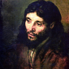 100% Hand Painted Oil on Canvas - A Christ after life by Rembrandt