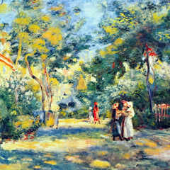 100% Hand Painted Oil on Canvas - A Garden in Montmartre by Renoir