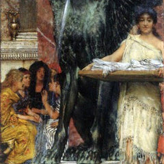 100% Hand Painted Oil on Canvas - A bathroom (An ancient tradition) by Alma-Tadema
