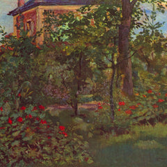 100% Hand Painted Oil on Canvas - A corner in the garden of Bellevue by Manet