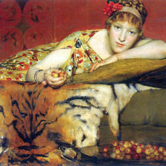 100% Hand Painted Oil on Canvas - A craving for cherries by Alma-Tadema
