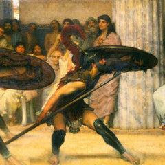100% Hand Painted Oil on Canvas - A dance for Phyrrus by Alma-Tadema