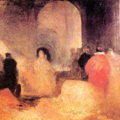 The Museum Outlet - A dinner in a large room with people in costumes by Joseph Mallord Turner