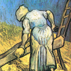 The Museum Outlet - A farmer cutting hay by Van Gogh