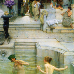 100% Hand Painted Oil on Canvas - A favorite tradition by Alma-Tadema