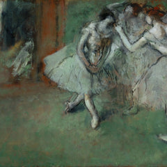 100% Hand Painted Oil on Canvas - A group of dancers by Degas
