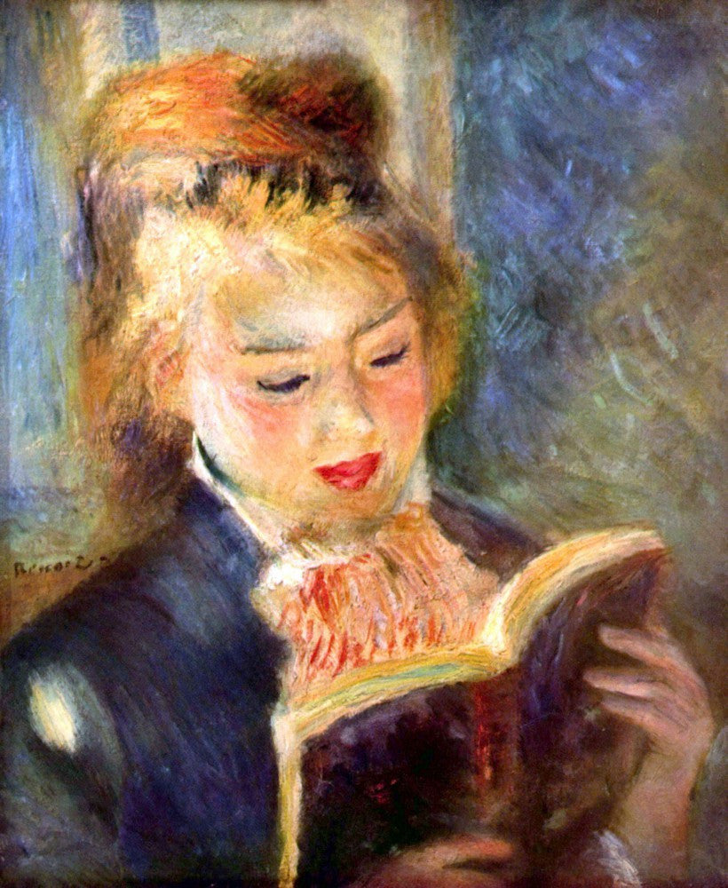 The Museum Outlet - A reading girl1 by Renoir
