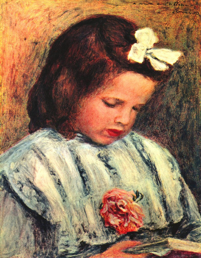 The Museum Outlet - A reading girl by Renoir