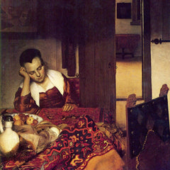 The Museum Outlet - A woman asleep by Vermeer