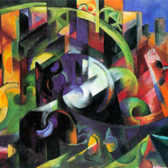 The Museum Outlet - Abstract with cattle by Franz Marc