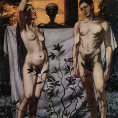 100% Hand Painted Oil on Canvas - Adam and Eve by Hans Thoma