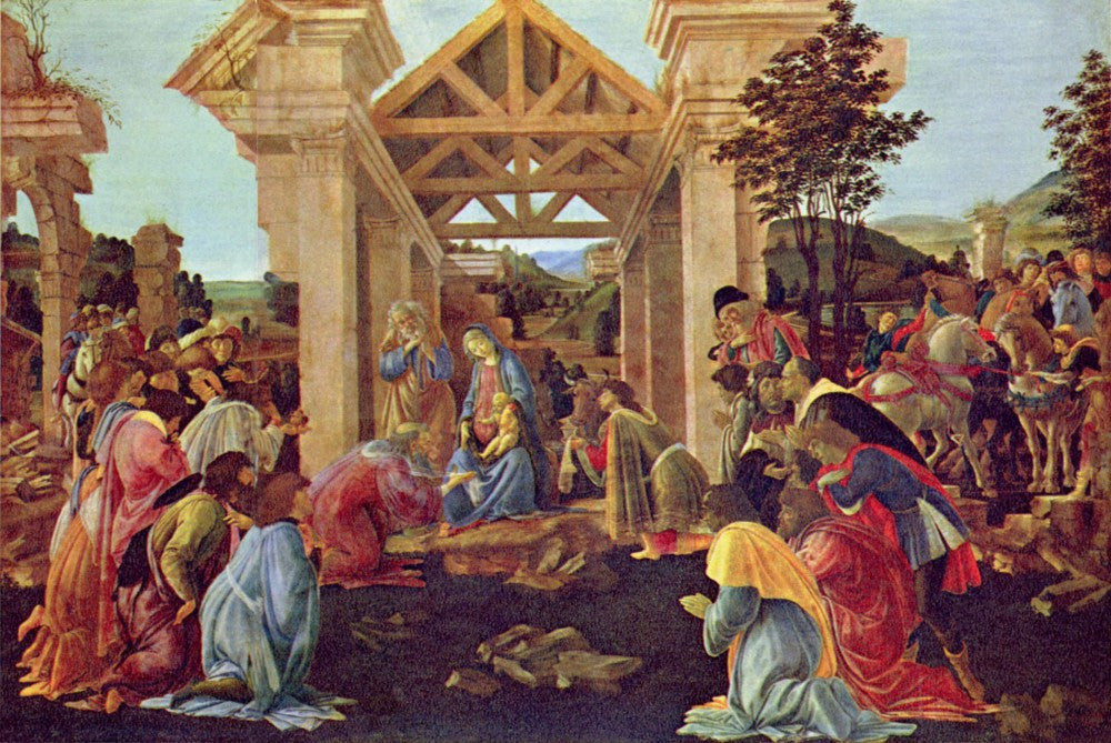 100% Hand Painted Oil on Canvas - Adoration of the Magi (Washington) by Botticelli