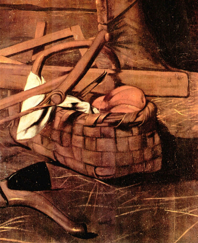 100% Hand Painted Oil on Canvas - Adoration of the Shepherds detail by Caravaggio