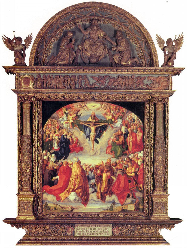 100% Hand Painted Oil on Canvas - Adoration of the Trinity by Durer