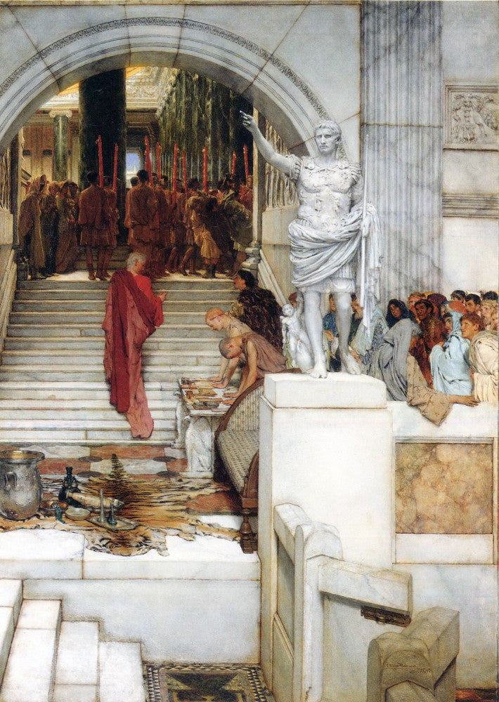 100% Hand Painted Oil on Canvas - After the Audience by Alma-Tadema