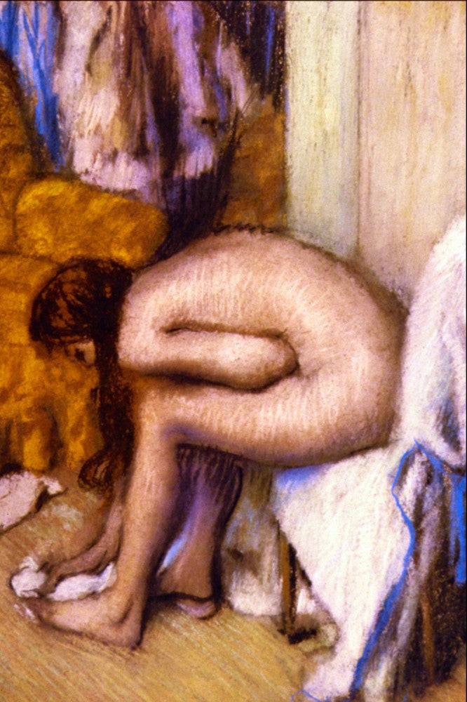 100% Hand Painted Oil on Canvas - After the Bath by Degas