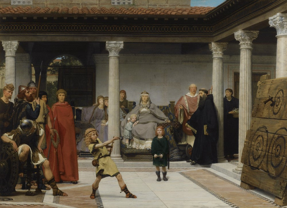 100% Hand Painted Oil on Canvas - Alma-Tadema - Education of the children