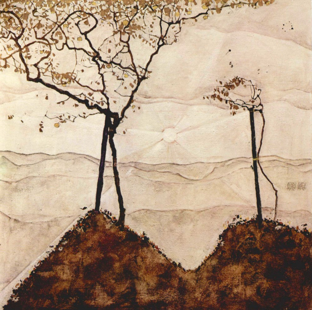 The Museum Outlet - Autumn sun and trees by Schiele