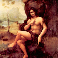 100% Hand Painted Oil on Canvas - Bacchus by Da Vinci