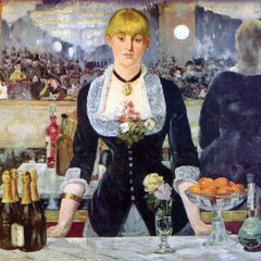 100% Hand Painted Oil on Canvas - Bar in the Folies-Bergere by Manet