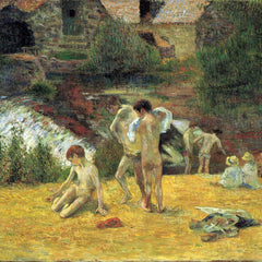 The Museum Outlet - Bathing in the mill of Bois d'Amour by Gauguin