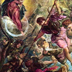 The Museum Outlet - Battle of the Archangel Michael with Satan by Tintoretto