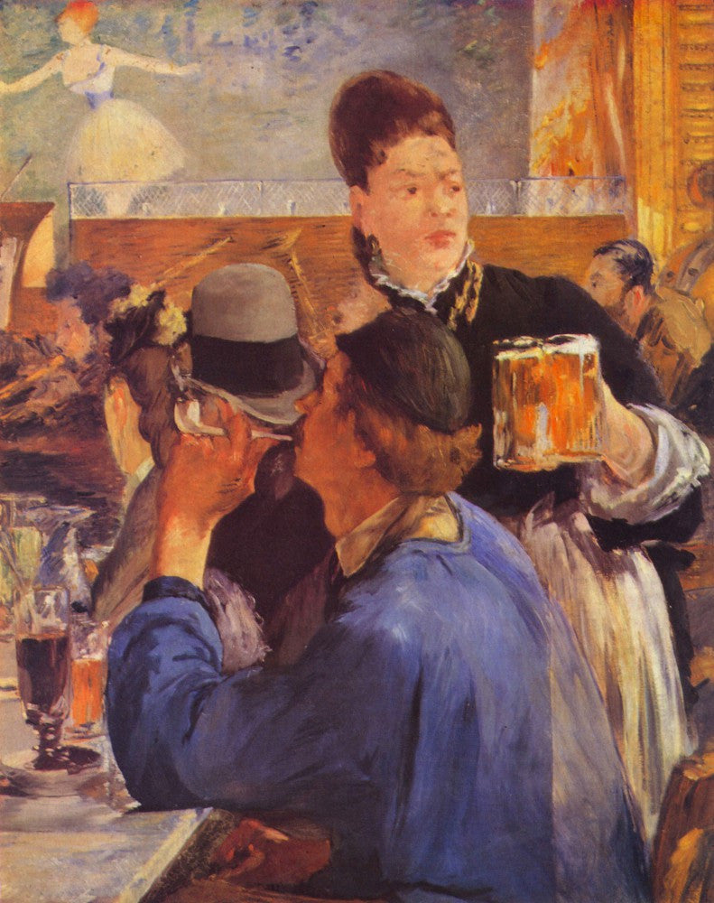 100% Hand Painted Oil on Canvas - Beer Waitress by Manet