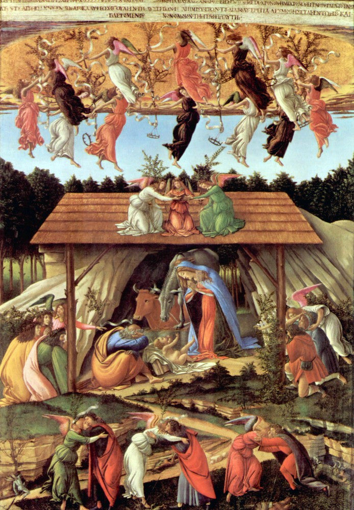 The Museum Outlet - Birth of Christ (Mystic birth) by Botticelli
