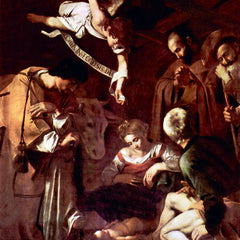 The Museum Outlet - Birth of Christ with St. Lawrence and St. Francis by Caravaggio