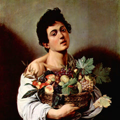 The Museum Outlet - Boy with fruit basket by Caravaggio