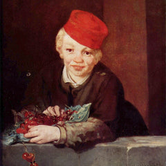 100% Hand Painted Oil on Canvas - Boy with the cherries by Manet