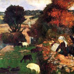 The Museum Outlet - Breton Shepherds by Gauguin