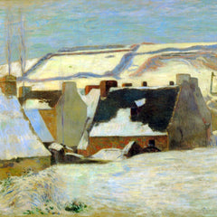 The Museum Outlet - Breton Village in Snow by Gauguin
