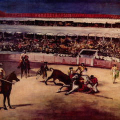 100% Hand Painted Oil on Canvas - Bullfight by Manet