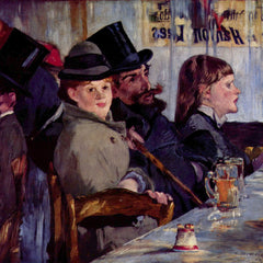 100% Hand Painted Oil on Canvas - Cabaret in Reichshoffen by Manet