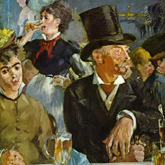 100% Hand Painted Oil on Canvas - Cafe Concert by Manet