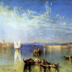 100% Hand Painted Oil on Canvas - Campo Santo, Venice by Joseph Mallord Turner