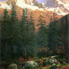 100% Hand Painted Oil on Canvas - Canadian Rockies by Bierstadt