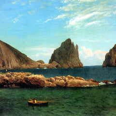 100% Hand Painted Oil on Canvas - Capri by Bierstadt