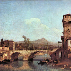 100% Hand Painted Oil on Canvas - Capriccio Veneto by Canaletto