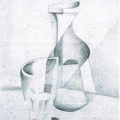 100% Hand Painted Oil on Canvas - Caraffe and Glass by Juan Gris