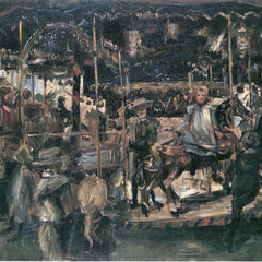 100% Hand Painted Oil on Canvas - Carousel by Lovis Corinth