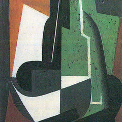 100% Hand Painted Oil on Canvas - Carrafe by Juan Gris