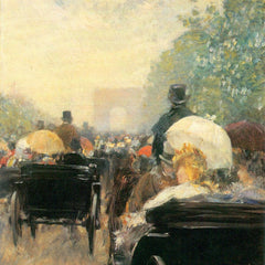 100% Hand Painted Oil on Canvas - Carriage Parade by Hassam